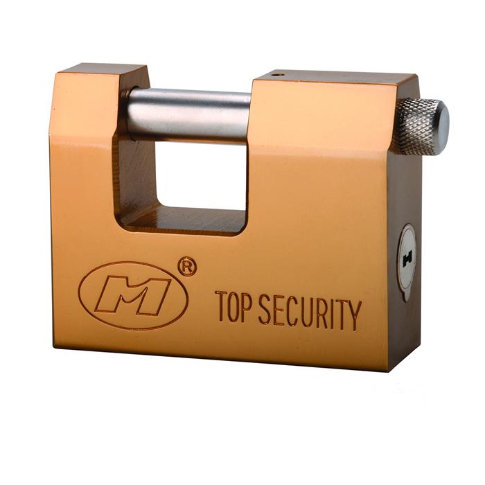 D型镀铜钢锁
